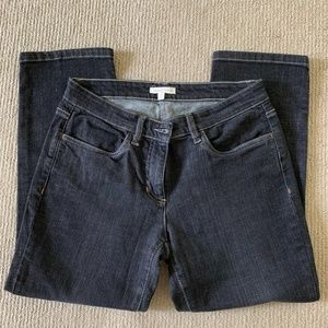 Eileen Fisher Faded Black Cropped Jeans Sz6